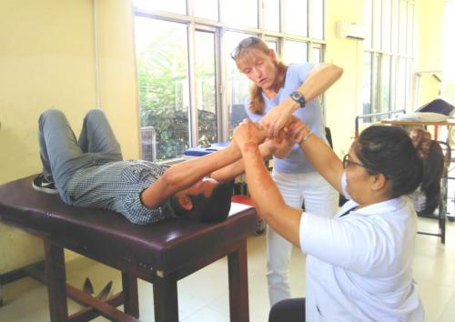 Dr. Anne Sielski  from Germany sharing her expertise with Dr. Anagha Kadam, Occupational Therapist.